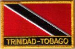 Trinidad & Tobago Embroidered Flag Patch, style 09.